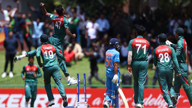 Bangladesh need 178 to win against India
